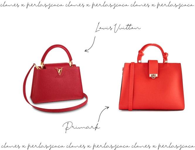 Clones: Bolso Cappucine de Louis Vuitton vs Primark.