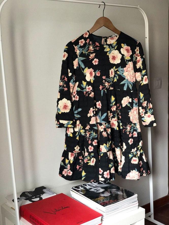Vestido estampado de flores