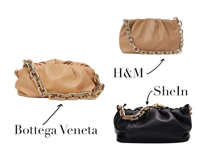 Chain Pouch de Bottega Veneta y sus clones