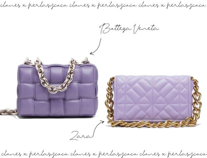 Bolso Chain de Bottega Veneta vs Zara