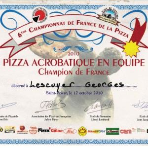Champion de France de Pizza Acrobatique en équipe 2010 - Georges Lescuyer