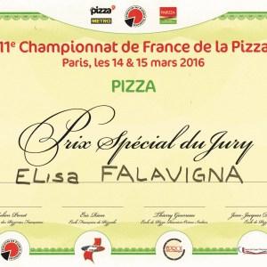 Prix spécial du jury au championnat de France de la Pizza 2016 - Elisa Falavigna