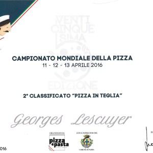Championnat Mondial de la pizza - Georges Lescuyer