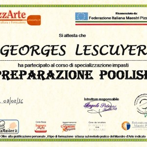 Spécialisation préparation Poolish - Georges Lescuyer