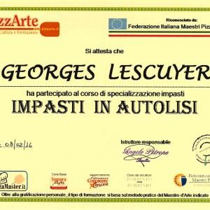Spécialisation pâtes en autolyse - Georges Lescuyer