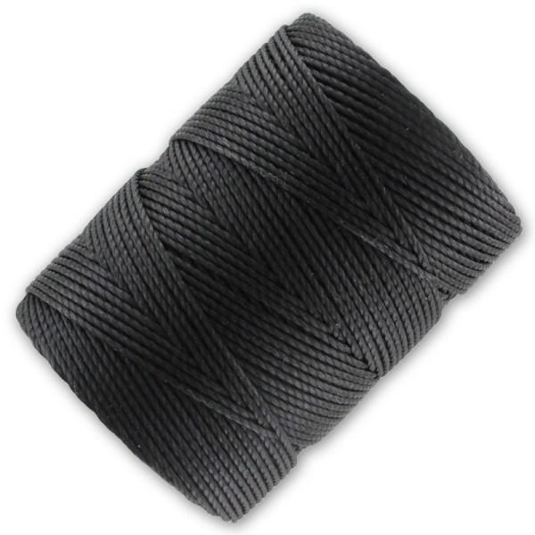 Lon Beading Cord 0 50 Mm Charcoal X 82m - Perles &