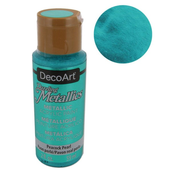 Metallic Acrylic Decorative Paint - Decoart Dazzling