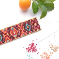 Bracelet and Earrings Kit with Miyuki Beads & Peyote/Brick