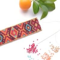 Bracelet and Earrings Kit with Miyuki Beads & Peyote/Brick ...