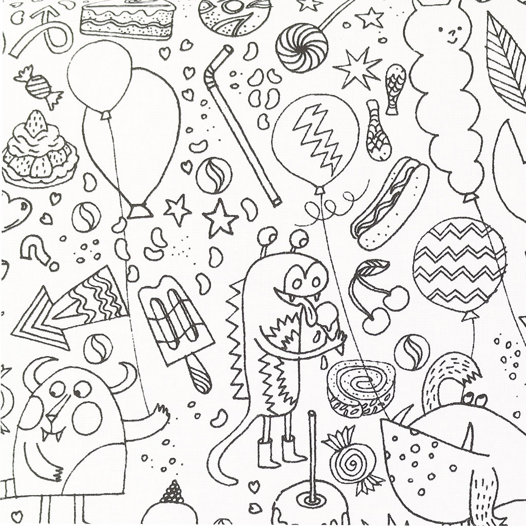 Colouring Activity Fabric