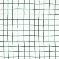 Tissu en coton - Hygge - Carreaux - Blanc/Vert x10cm
