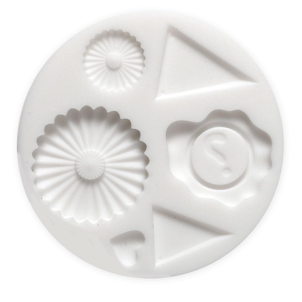 mini moule silicone pour pate polymere et pate de metal decoration