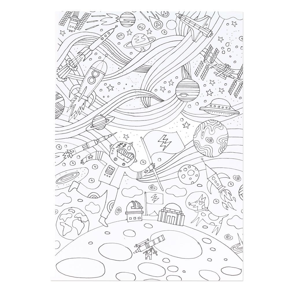 Bloc de papier à colorier 21x30 cm Colouring activity x20