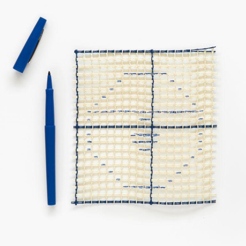 toile canevas smyrne interlock pour tapis et ouvrages au point noue x10cm