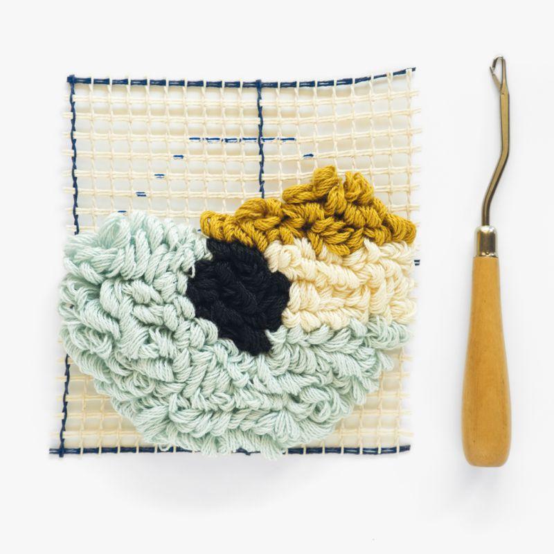 crochet smyrne point noue pour tissage de laine et tapis
