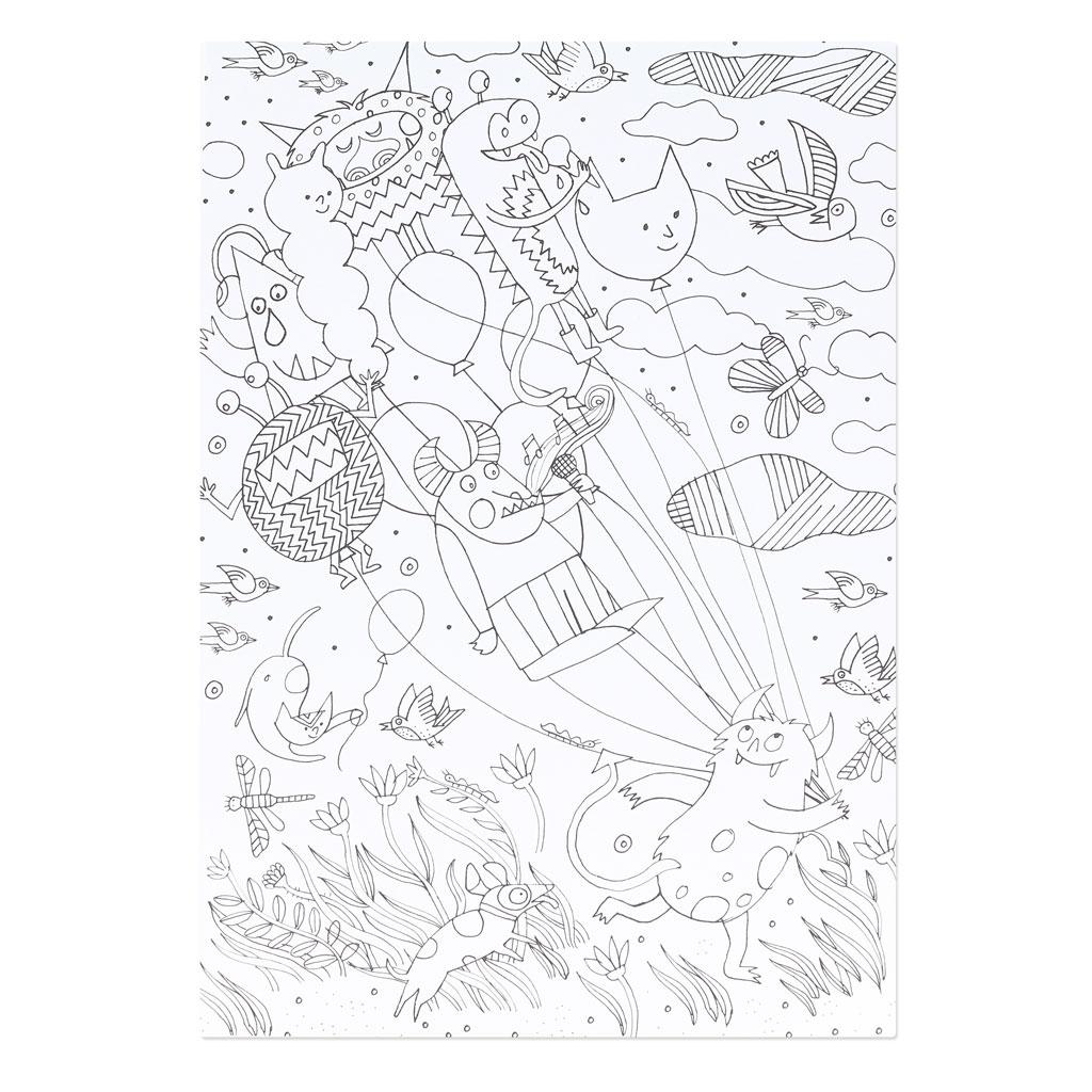 Bloque de papel Paper Poetry 21x30 cm Colouring activity x