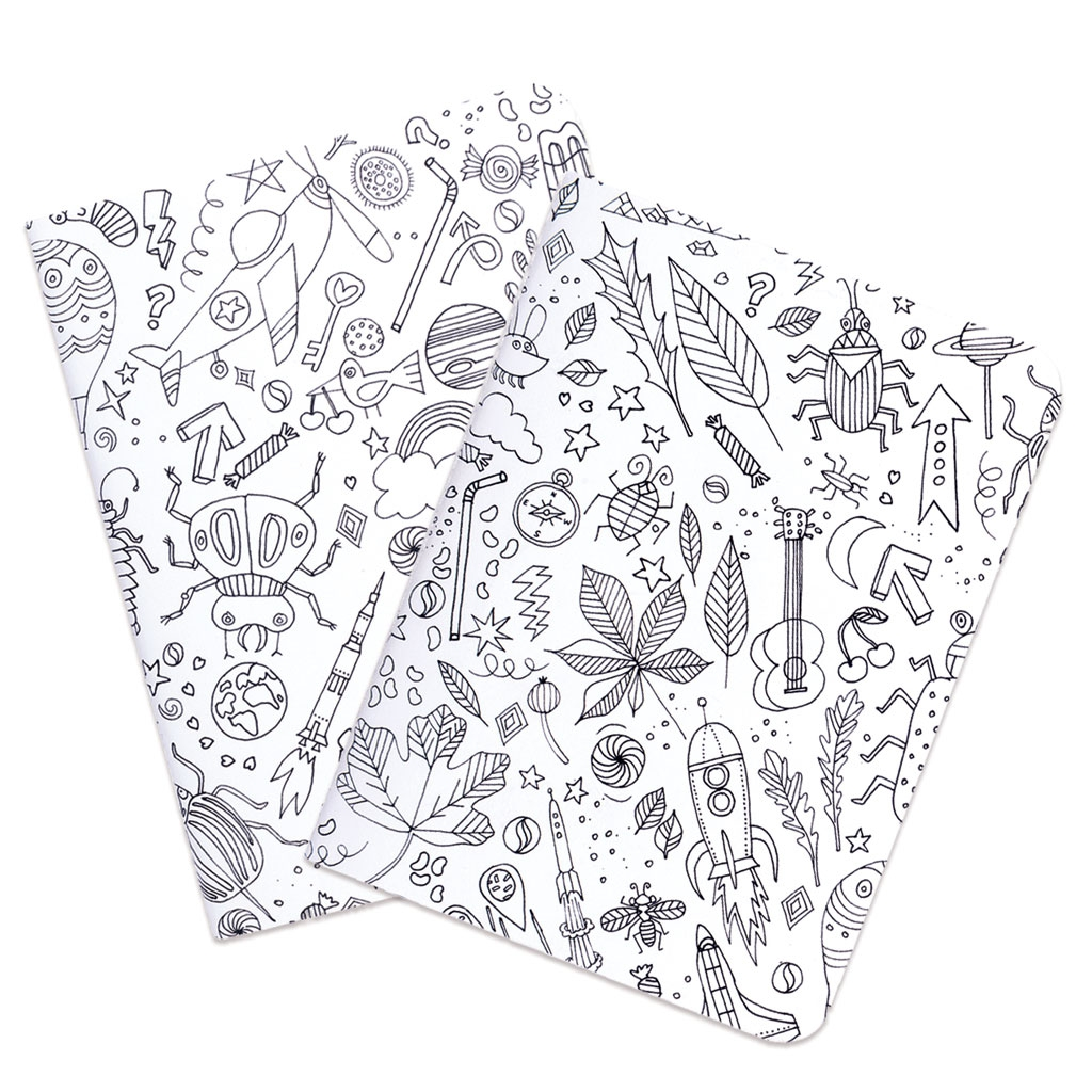 Set Paper Poetry bloc notes 105x140mmColouring activity