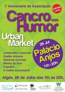 Cartaz Urban market Cancro com Humor