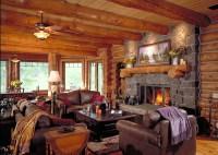 Log Home Living Room Pictures | Baci Living Room