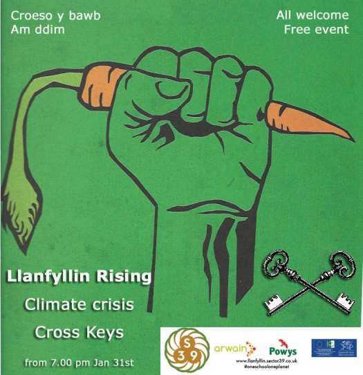 permaculture, climate change and community transition event in Llanfyllin