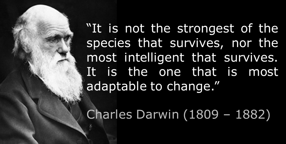 Darwin quote on change