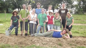 Earth works and Tree planting September 2011.