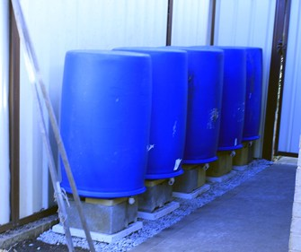 Water tanks near completion