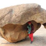 April under boulder at Wave rock WA