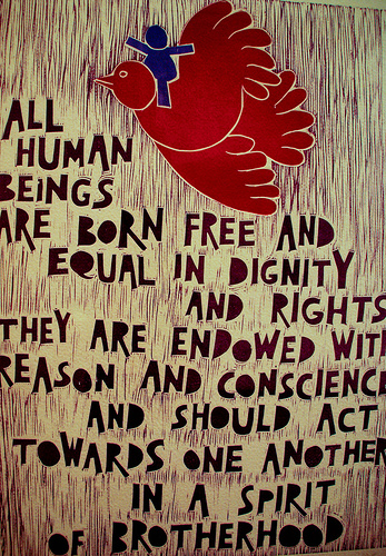 Born Free. equal in dignity