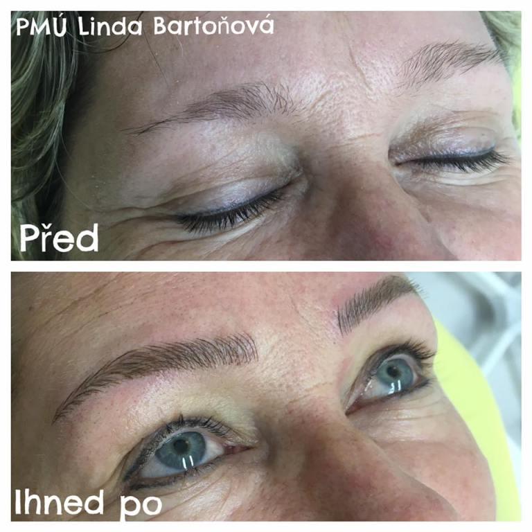 kosmetička stylistka Linda Bartoňová Kosmetické studio permanentní makeup nový jičín microblading vláskování obočí