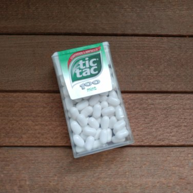 Culprit 3 - An oversized box of tic tacs