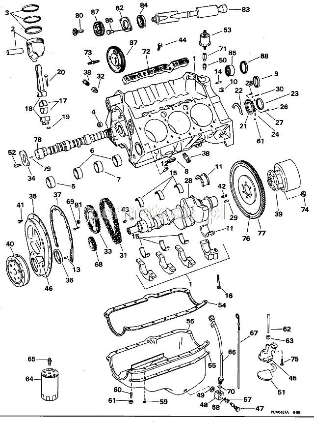 Kpl panewek głównych GM V6 262CID 4,3L 18-1311 :: MOTOROWKI.PL