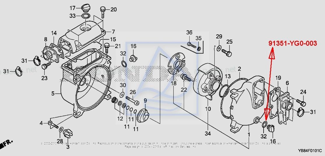 O-ring korka WT20 WT30K3 WT40K2 91351-YG0-003 :: MOTOROWKI.PL