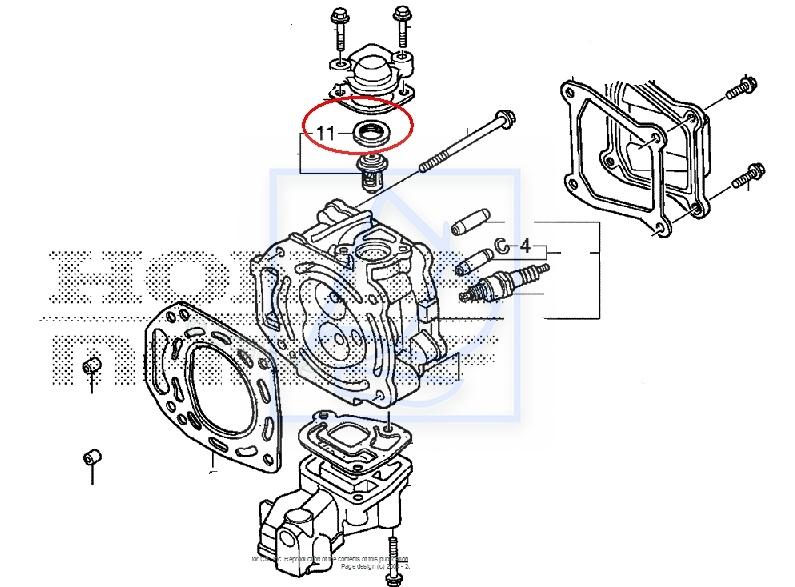 Uszczelka termostatu Honda BF5 B75 BF8A BF100 19302-921