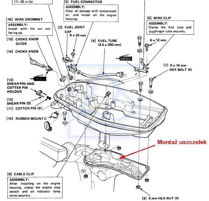 Uszczelka pod silnik HONDA BF5 1997~ 12516-ZV1-850