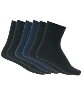 Ανδρικές κάλτσες ημίκοντες βαμβακερές 3 ζεύγη Μαύρο και Μπλε