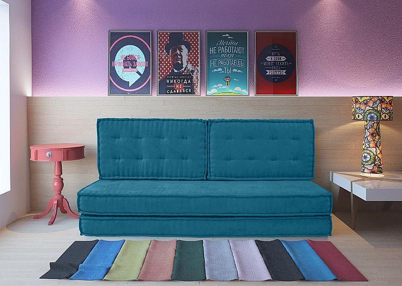 sofa cama usados distrito federal bunk bed italian design futon turco suede azul canto a
