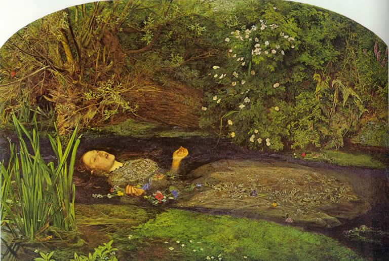 John Everett Millais - 1852 - Ofelia