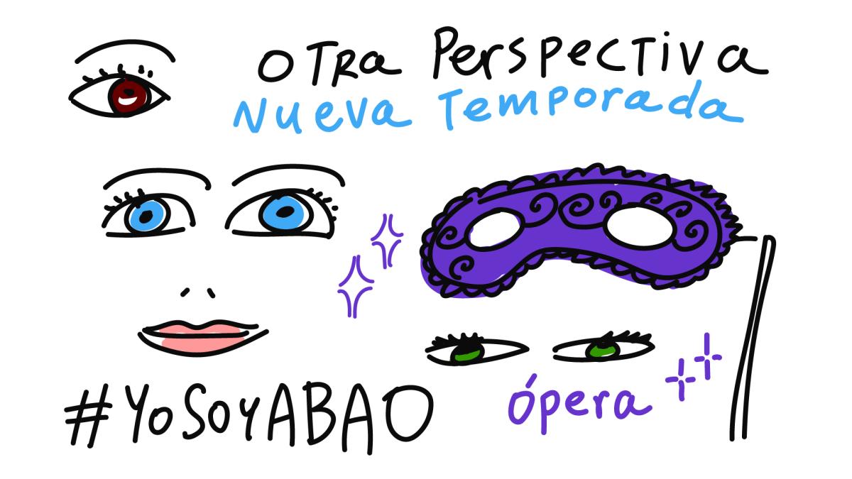 Dibujando en la presentación de ABAO Bilbao Ópera