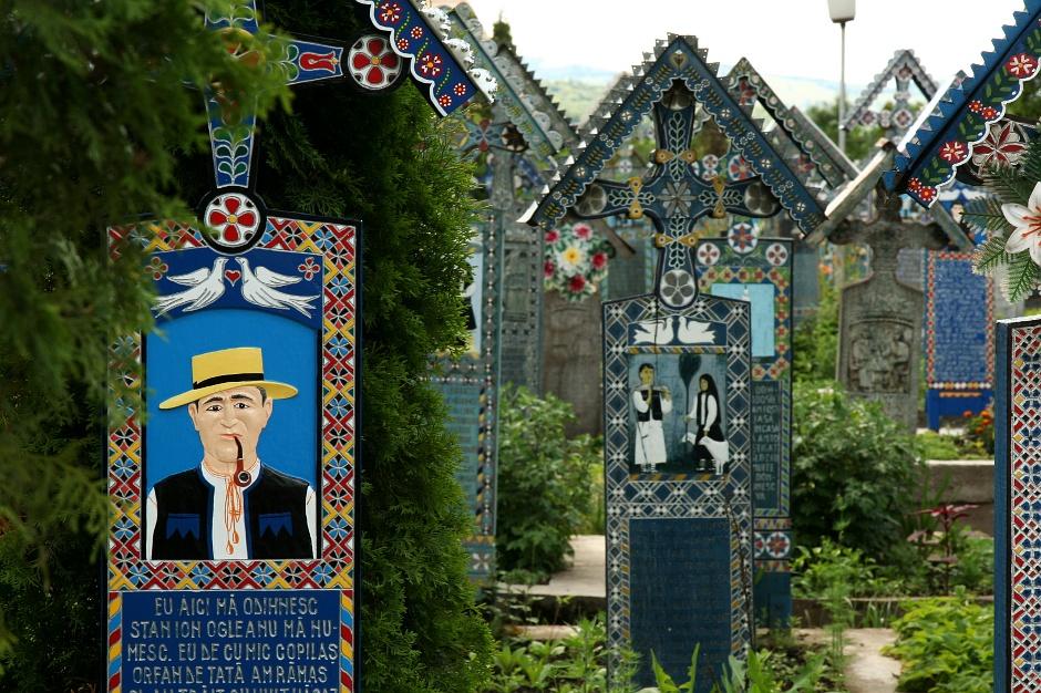 """<strong>8. Rumunia, Sapanta. </strong> Wesoły Cmentarz to prawdziwa baza informacji o jego """"lokatorach"""". (Fot. Grzegorz Król)"""