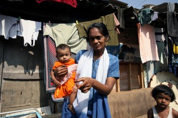 Indie - slumsy w bangalore