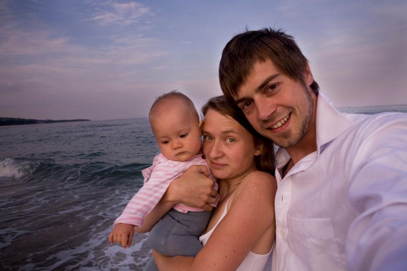 Rodzina bez granic: Hania, Anna i Thomas.
