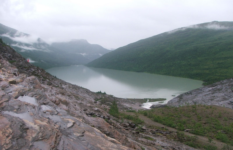 Okolice lodowca Svartisen.