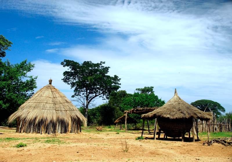Afrykański krajobraz. Zdjęcie z Angoli