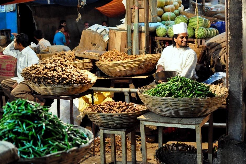 9. INDIE, Mysore. Wystarczy trochę papryczki, trochę imbiru i już można mieć stoisko na bazarze. (Fot. Paweł Manczyk)