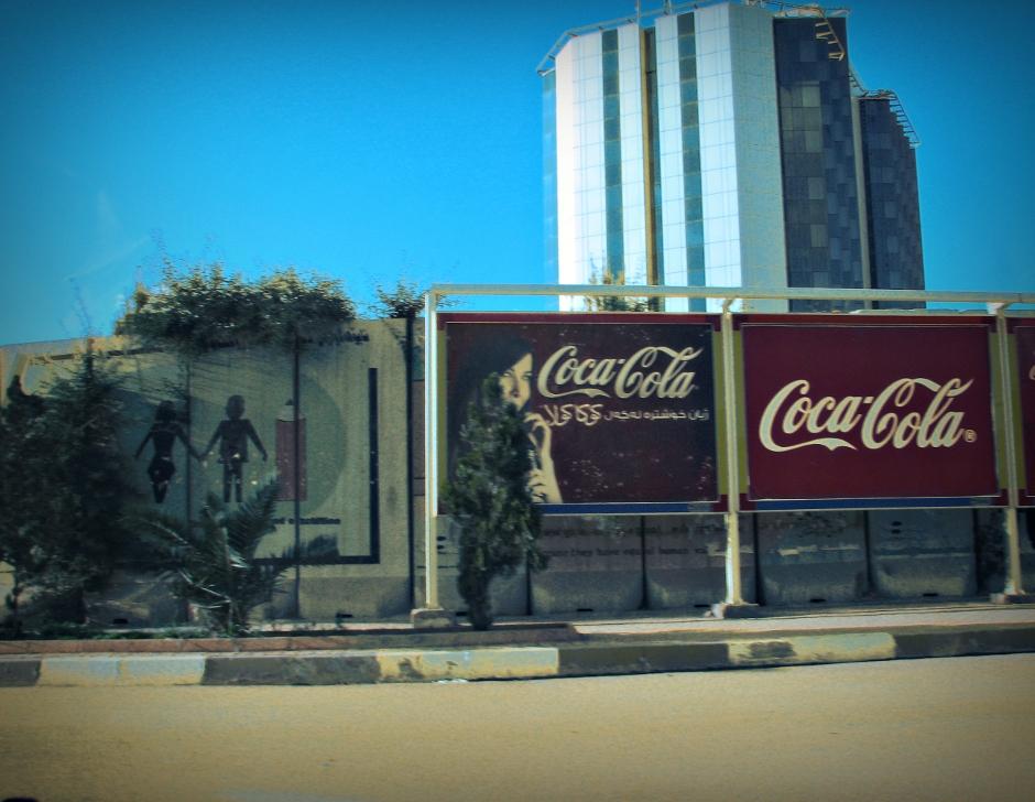 4. IRACKI KURDYSTAN, Erbil. International Hotel potocznie zwany Sheratonem jest otoczony murem typowym dla budynków rządowych lub placówek dyplomatycznych. (Fot. Katarzyna Komorek)