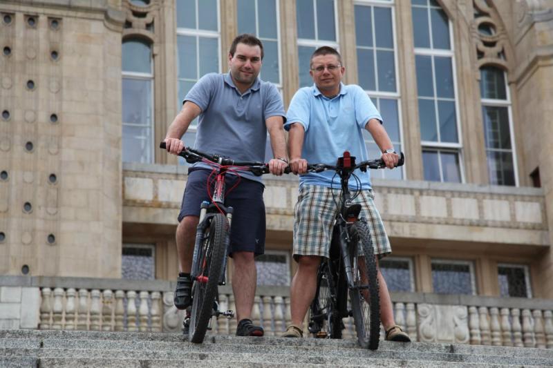 Bodek i Piotrna rowerach przejechali Alpy. (fot. archiwum wyprawy)