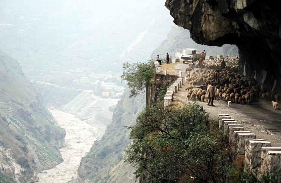 Himachal Pradesh w Indiach. Zdjęcie pasterzy