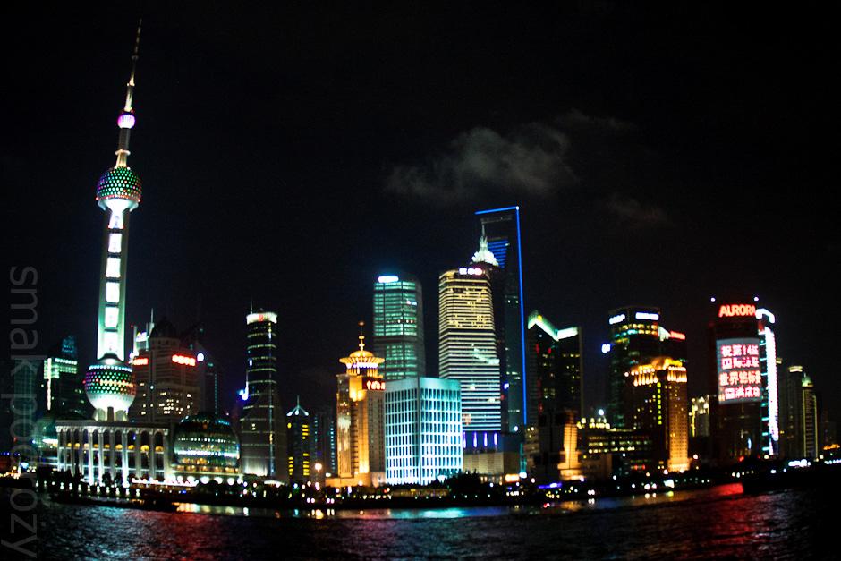 Zdjęcia z Chin. Szanghaj nocą