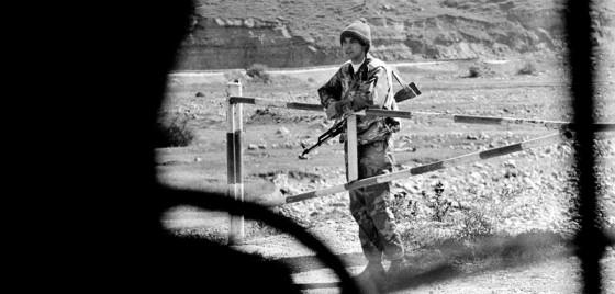 Wojskowy posterunek w Czeczenii